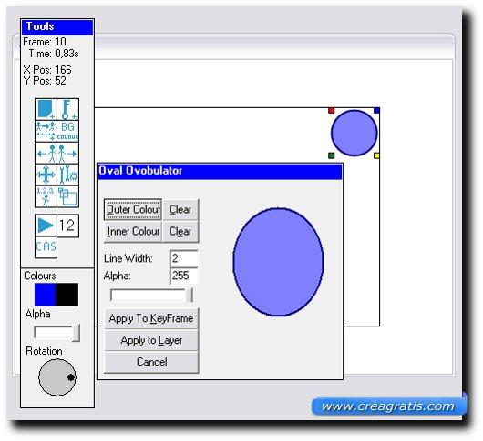 Schermata di colorazione dell'oggetto