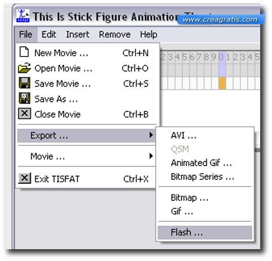 Schermata di salvataggio del video di animazione