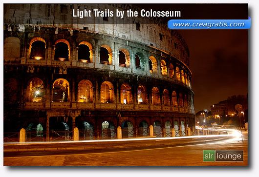 Foto del Colosseo con l'effetto Motion Blur