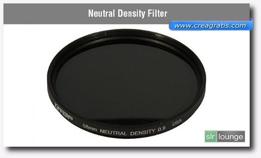 Immagine di un filtro a densità neutra