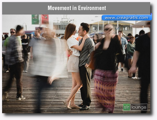 Foto dell'ambiente in movimento con l'effetto Motion Blur