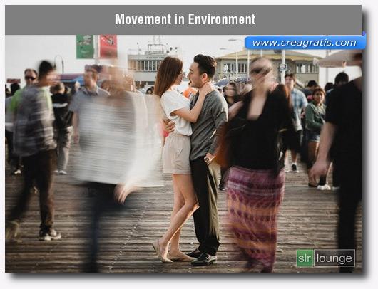 Foto dell'ambiente in movimento con l'effetto Motion Blur