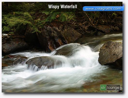 foto di ciuffi d'acqua con l'effetto Motion Blur