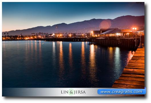 Foto del mare di Santa Barbara in California