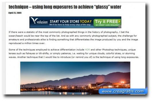 Fotografare il mare con tempi di esposizione lunghi