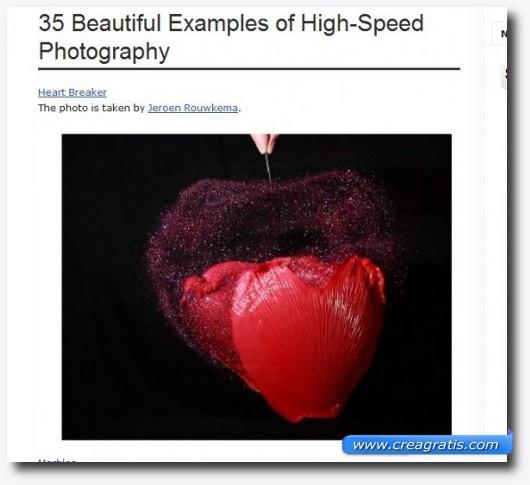 50 foto ad alta velocità