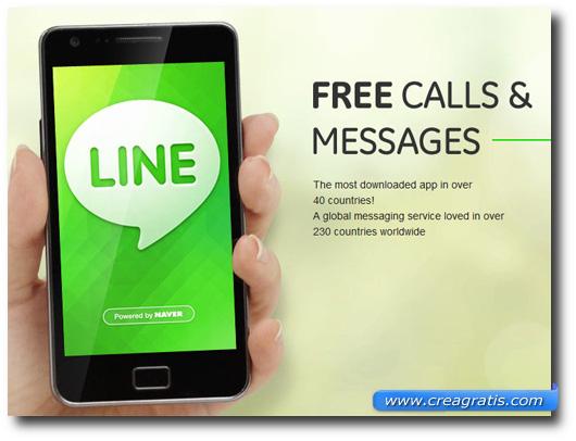 Immagine dell'applicazione Line per smartphone