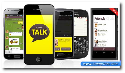 Immagine dell'applicazione KakaoTalk Messenger per smartphone