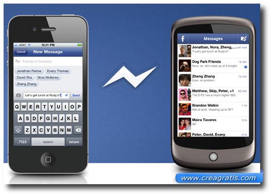 Immagine dell'applicazione Facebook Messenger per smartphone