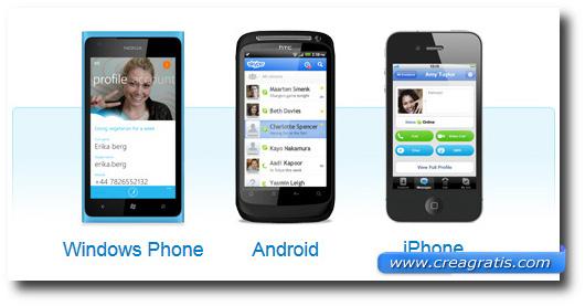 Immagine dell'applicazione Skype per smartphone