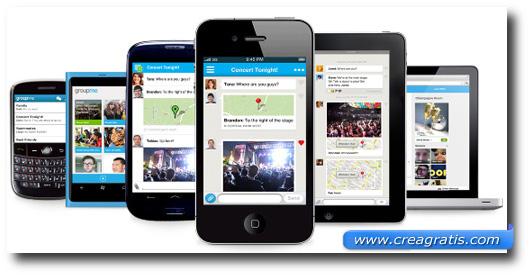 Immagine dell'applicazione GroupMe per smartphone