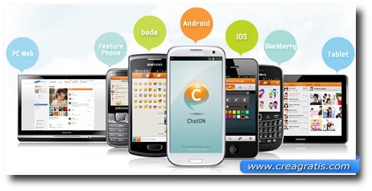 Immagine dell'applicazione ChatON per smartphone