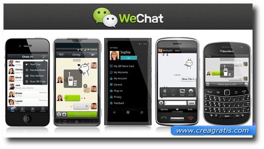 Immagine dell'applicazione WeChat per smartphone