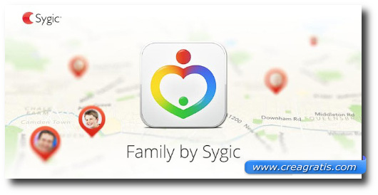 Immagine dell'applicazione Sygic Family per Android e iPhone