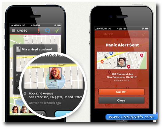 Immagine dell'applicazione Life360 per Android e iPhone