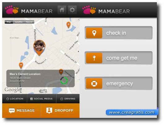 Immagine dell'applicazione MamaBear per Android e iPhone