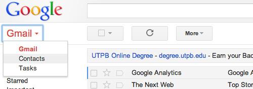 Schermata di Gmail di Google