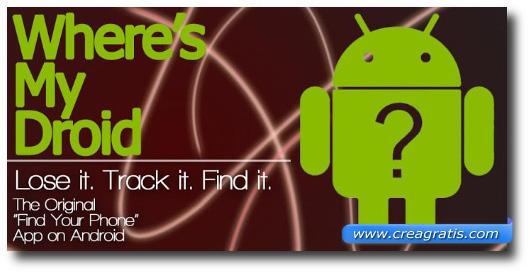 Immagine dell'applicazione Where's My Droid per Android