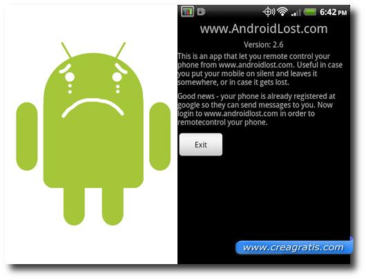 Immagine del''applicazione Android Lost Free per Android
