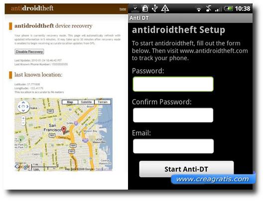 Immagine dell'applicazione AntiDroidTheft per Android