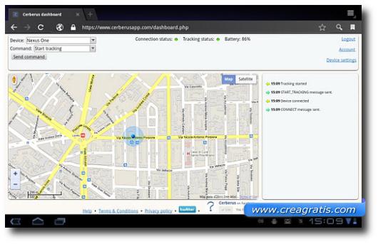 Immagine dell'applicazione Cerberus per Android