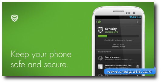 Immagine dell'applicazione Lookout Security & Antivirus per Android