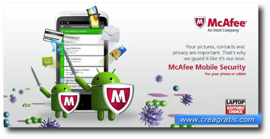Immagine dell'applicazione McAfee Antivirus & Security per Android