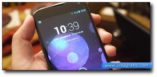 Immagine di uno smartphone Android