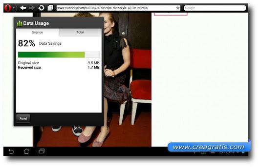 Immagine del browser Opera per Android