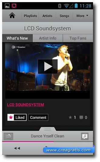 Immagine dell'applicazione Songbird per Android