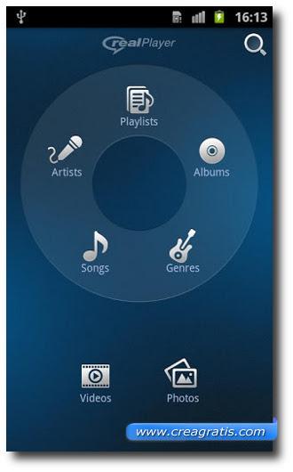 Immagine dell'applicazione RealPlayer per Android