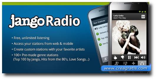 Immagine dell'applicazione Jango Radio per Android