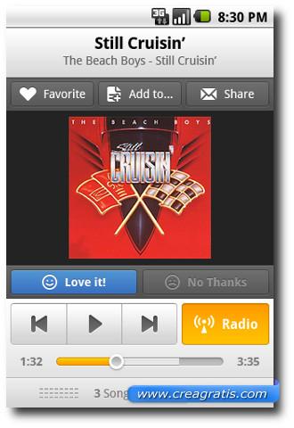 Immagine dell'applicazione Grooveshark per Android