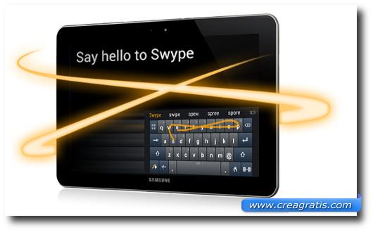 Immagine della tastiera Swype per Android