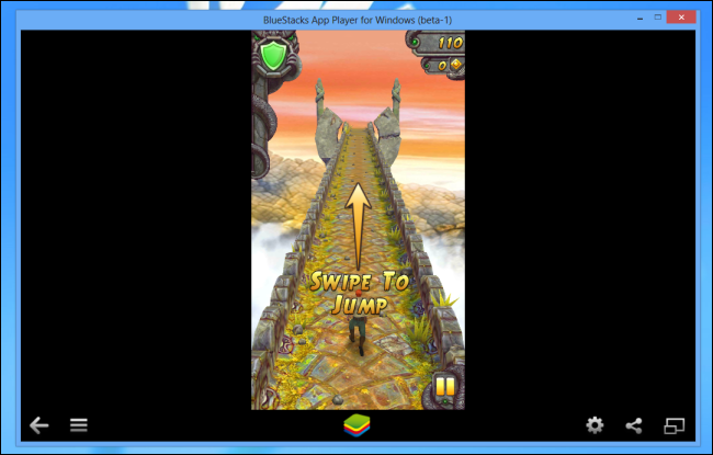 Schermata di BlueStacks per avviare giochi e applicazioni Android