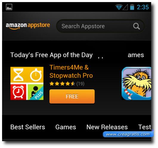 Immagine dell'Amazon Appstore
