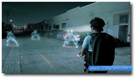 Immagini di un gioco con la realtà aumentata