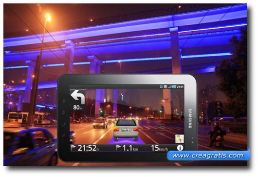 Immagine di un tablet con la realtà aumentata