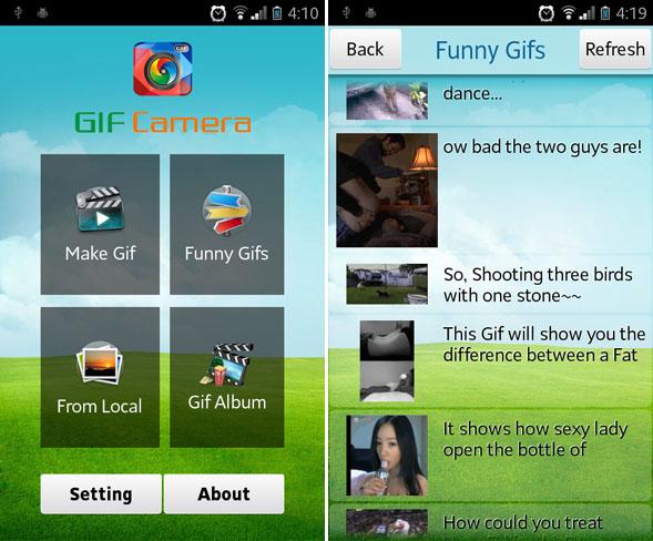 Immagine dell'applicazione GIF Camera per Android