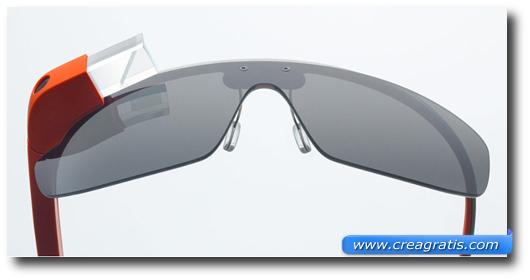 Immagine di occhiali con la realtà aumentata