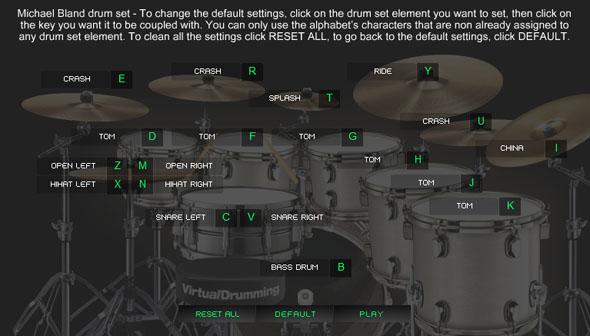 Immagine dello strumento del sito Virtual Drumming