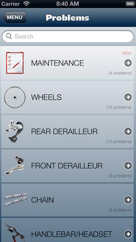 Immagine dell'applicazione Bike Repair per iPhone
