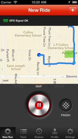 Immagine dell'applicazione Strava Cycling per iPhone