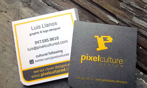 Biglietto da visita 2×2 Square Business Cards