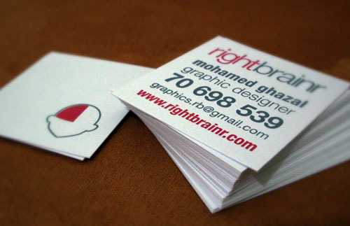 Biglietto da visita Rightbrainr Business Card