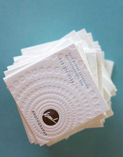 Biglietto da visita Dingbat Letterpress Card