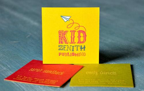 Biglietto da visita Kid Zenith Cards