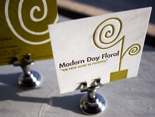 Biglietto da visita Modern Day Floral