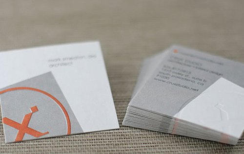 Biglietto da vistia Crux 24pt Square Business Cards