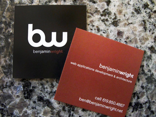 Biglietto da visita Square Business Cards